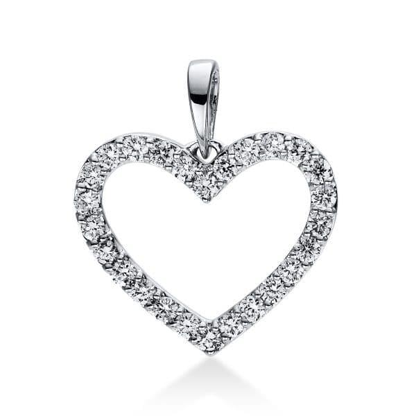 18 kt fehérarany medál 26 gyémánttal 3D767W8-2