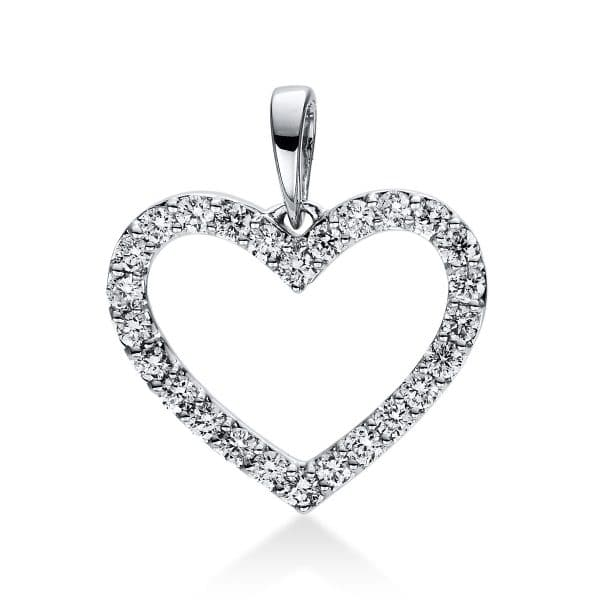 18 kt fehérarany medál 26 gyémánttal 3D767W8-5