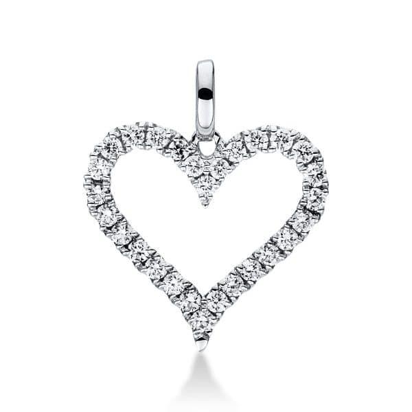 18 kt fehérarany medál 28 gyémánttal 3C184W8-3
