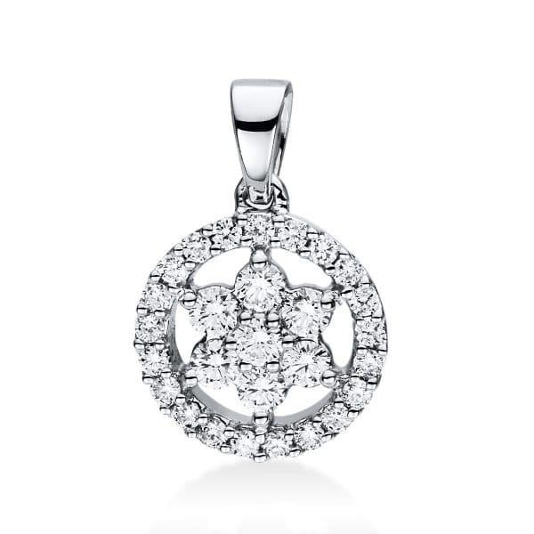 18 kt fehérarany medál 28 gyémánttal 3D967W8-3