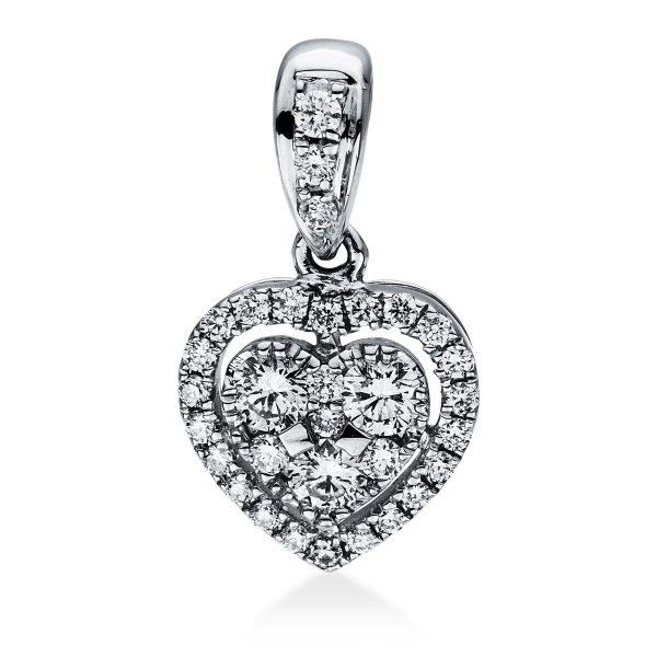 18 kt fehérarany medál 32 gyémánttal 3D782W8-1