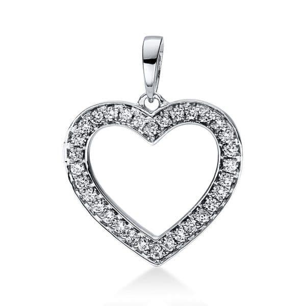 18 kt fehérarany medál 32 gyémánttal 3D814W8-5