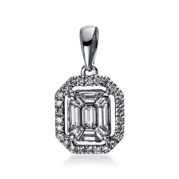 18 kt fehérarany medál 35 gyémánttal 3D222W8-3