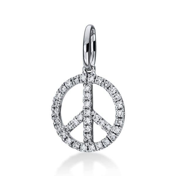 18 kt fehérarany medál 39 gyémánttal 3D901W8-1