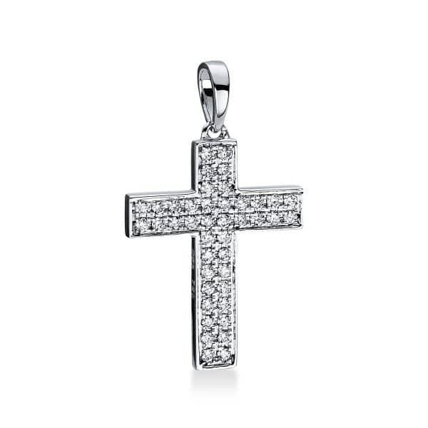 18 kt fehérarany medál 42 gyémánttal 3D768W8-3