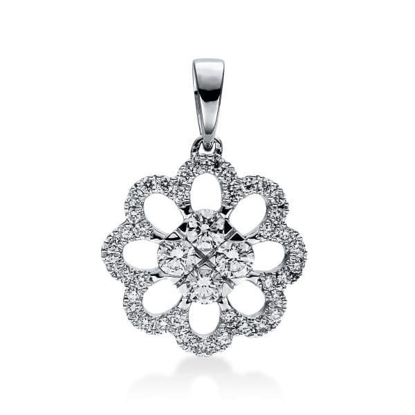 18 kt fehérarany medál 44 gyémánttal 3D819W8-2