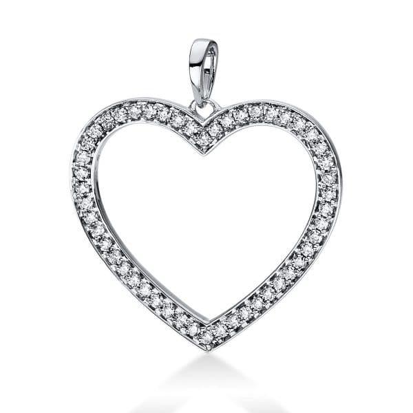 18 kt fehérarany medál 50 gyémánttal 3D815W8-1