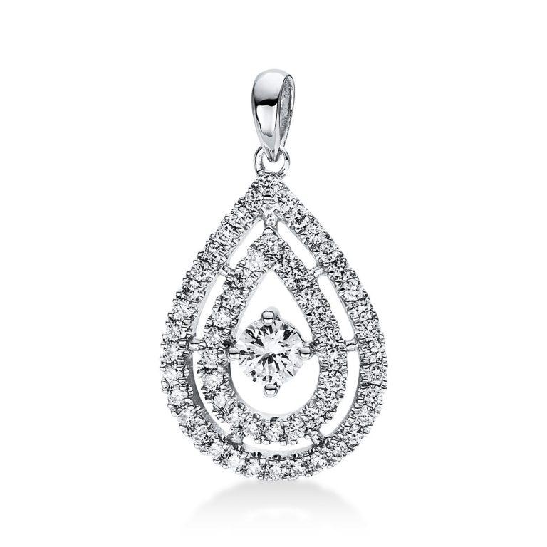 18 kt fehérarany medál 57 gyémánttal 3D818W8-1