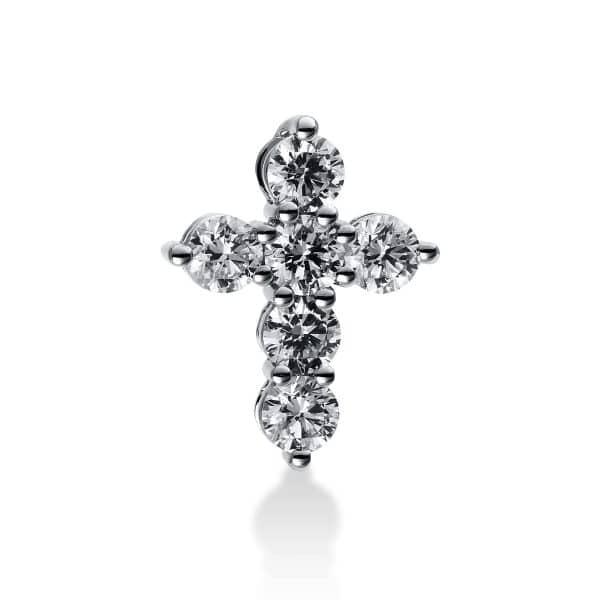 18 kt fehérarany medál 6 gyémánttal 3B907W8-3