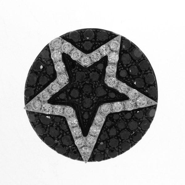 18 kt fehérarany medál 89 gyémánttal 3A009W8-1