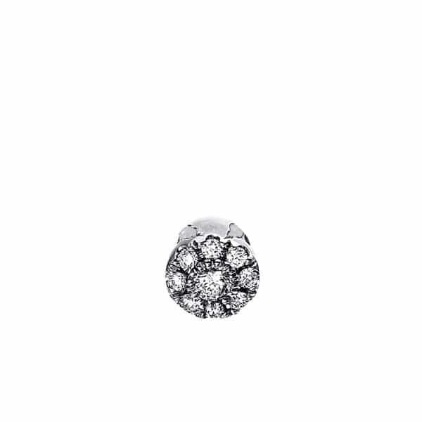 18 kt fehérarany medál 9 gyémánttal 3C875W8-1