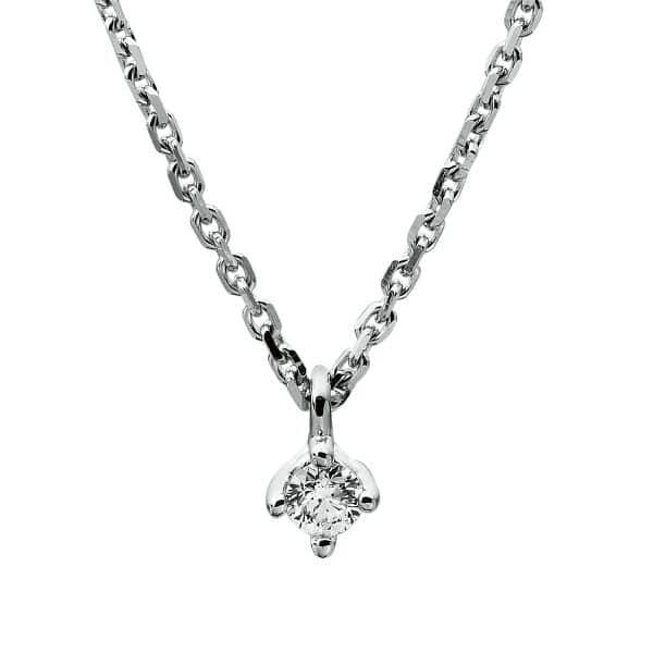 18 kt fehérarany nyaklánc 1 gyémánttal 4A305W8-2
