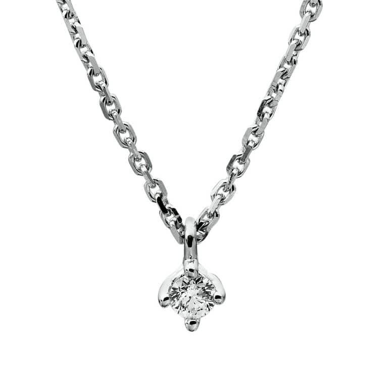 18 kt fehérarany nyaklánc 1 gyémánttal 4A305W8-6