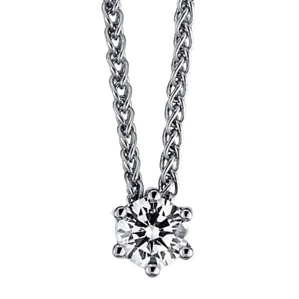 18 kt fehérarany nyaklánc 1 gyémánttal 4A341W8-5