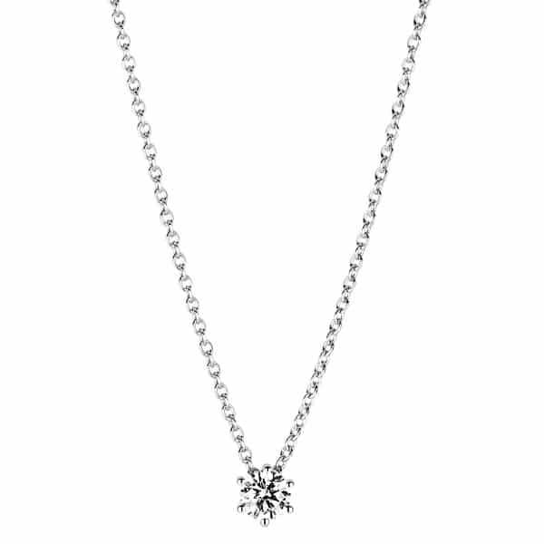 18 kt fehérarany nyaklánc 1 gyémánttal 4A376W8-3