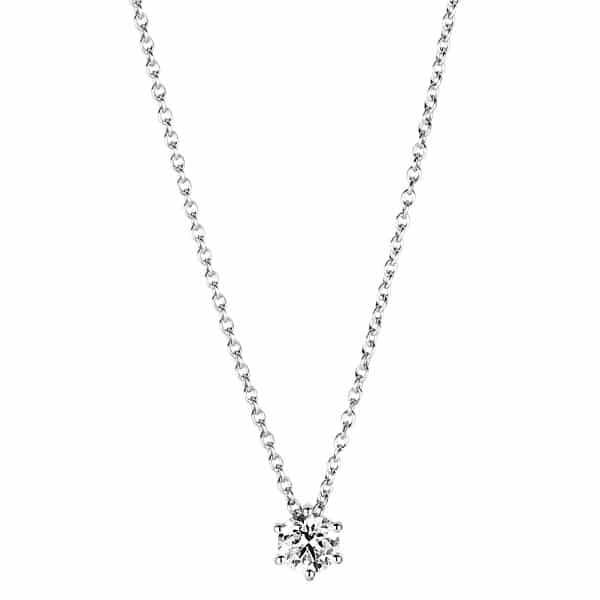18 kt fehérarany nyaklánc 1 gyémánttal 4A378W8-3