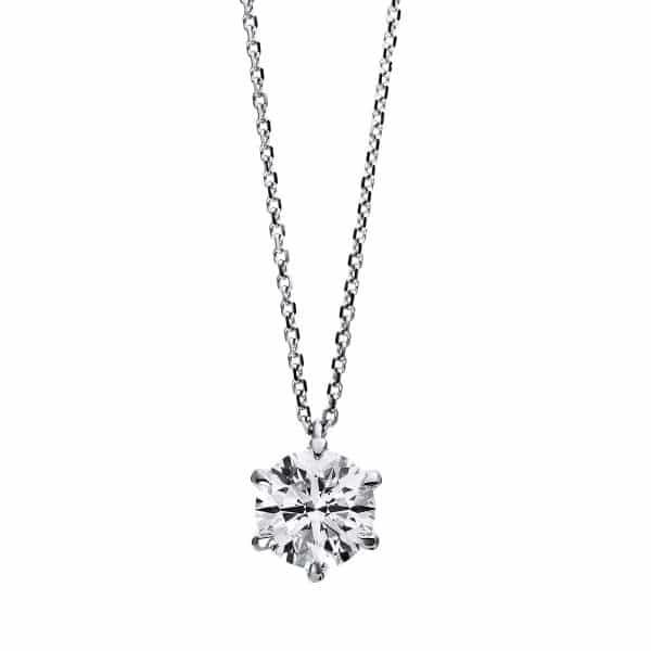 18 kt fehérarany nyaklánc 1 gyémánttal 4C958W8-3