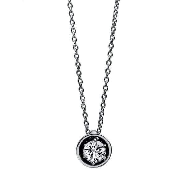 18 kt fehérarany nyaklánc 1 gyémánttal 4E012W8-1