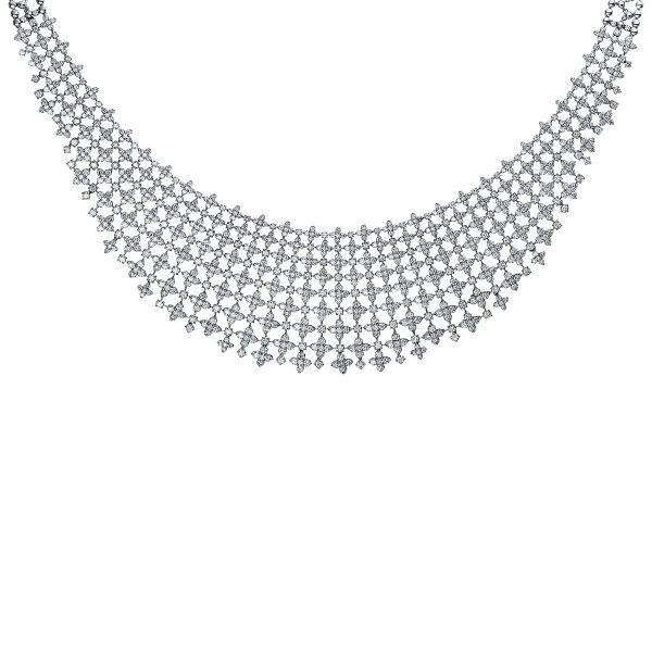 18 kt fehérarany nyaklánc 1035 gyémánttal 4E562W8-2