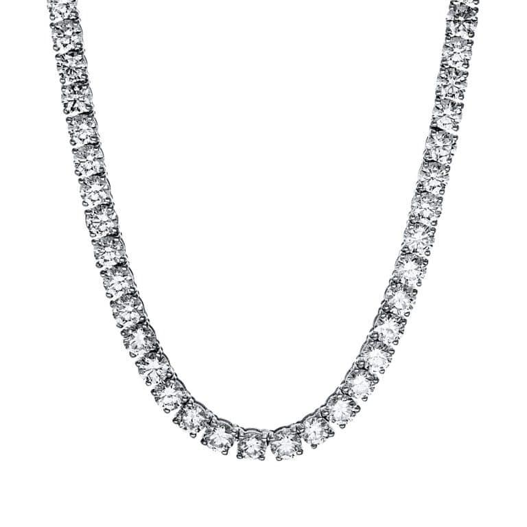 18 kt fehérarany nyaklánc 108 gyémánttal 4F622W8-1
