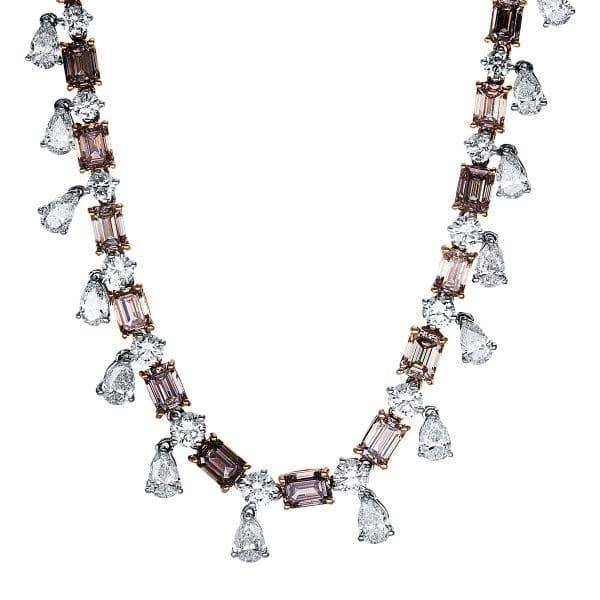 18 kt fehérarany nyaklánc 109 gyémánttal 4F627W8-1