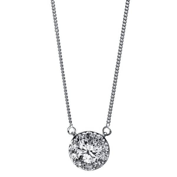 18 kt fehérarany nyaklánc 11 gyémánttal 4C961W8-1
