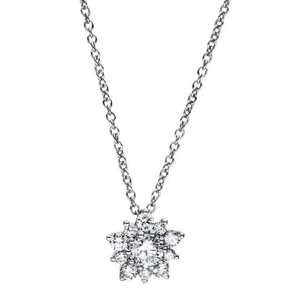 18 kt fehérarany nyaklánc 11 gyémánttal 4F347W8-2