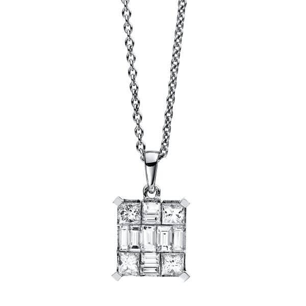 18 kt fehérarany nyaklánc 13 gyémánttal 4C428W8-1