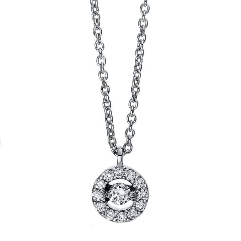 18 kt fehérarany nyaklánc 13 gyémánttal 4D381W8-8