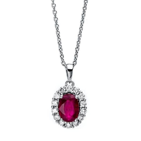 18 kt fehérarany nyaklánc 14 gyémánttal
