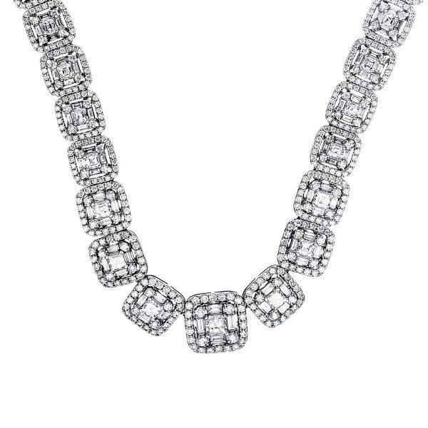 18 kt fehérarany nyaklánc 1475 gyémánttal 4F537W8-1