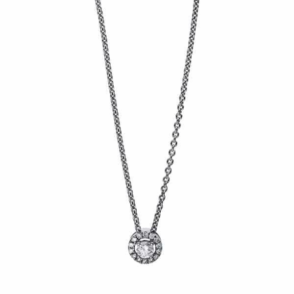 18 kt fehérarany nyaklánc 15 gyémánttal 4E528W8-1