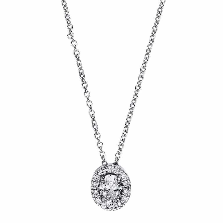18 kt fehérarany nyaklánc 15 gyémánttal 4F360W8-1