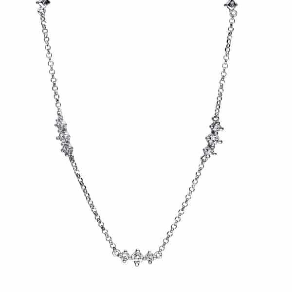 18 kt fehérarany nyaklánc 15 gyémánttal 4F557W8-1