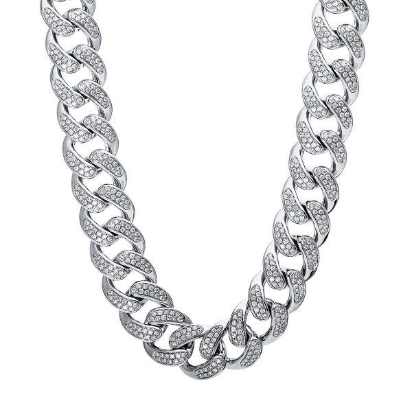 18 kt fehérarany nyaklánc 1769 gyémánttal 4E177W8-1