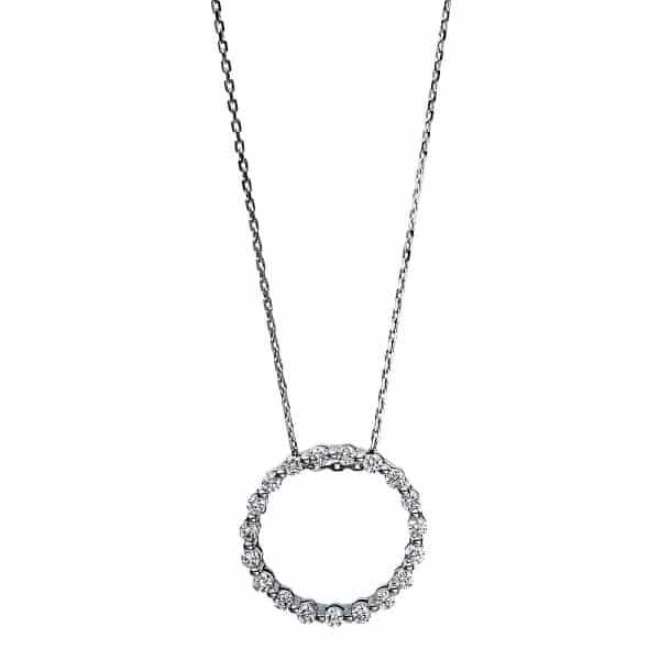 18 kt fehérarany nyaklánc 19 gyémánttal 4F106W8-1