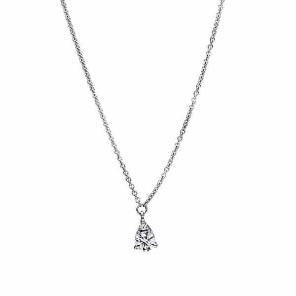 18 kt fehérarany nyaklánc 2 gyémánttal 4F381W8-1
