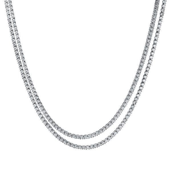18 kt fehérarany nyaklánc 216 gyémánttal 4F510W8-1