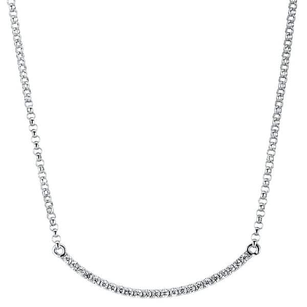 18 kt fehérarany nyaklánc 23 gyémánttal 4A070W8-2