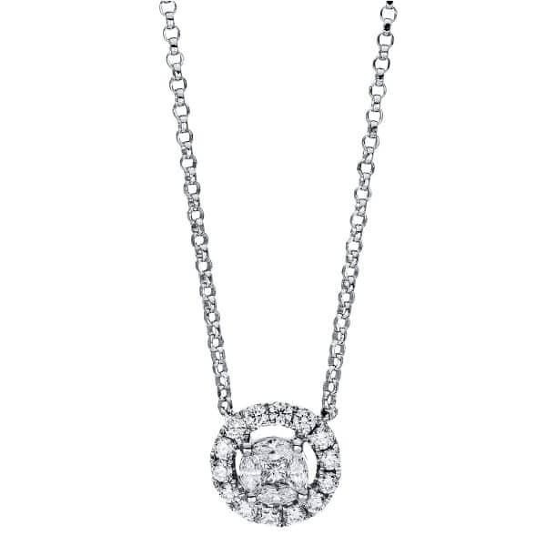 18 kt fehérarany nyaklánc 23 gyémánttal 4F329W8-2