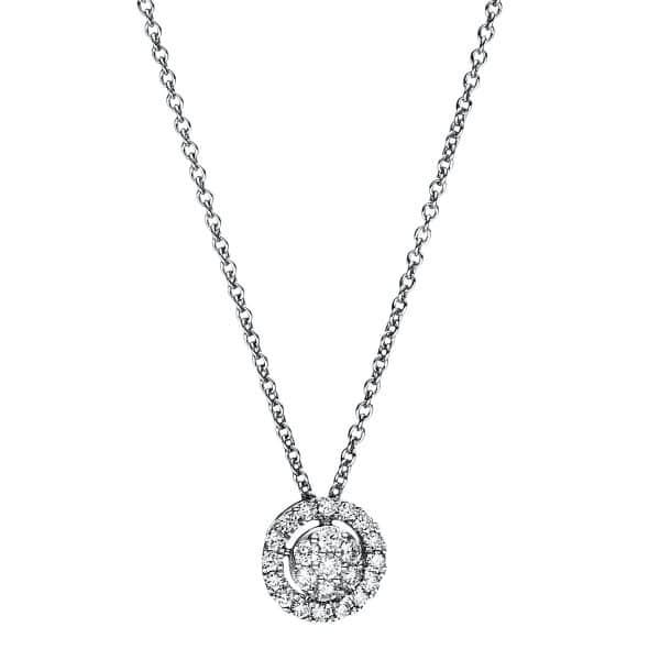 18 kt fehérarany nyaklánc 23 gyémánttal 4F349W8-1