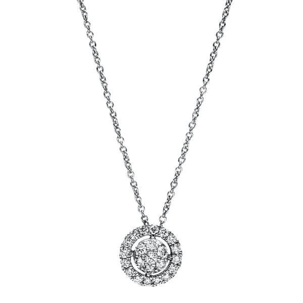 18 kt fehérarany nyaklánc 23 gyémánttal 4F350W8-3
