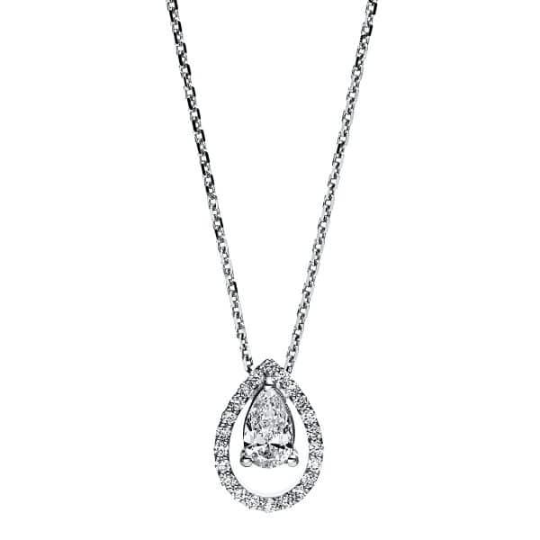 18 kt fehérarany nyaklánc 23 gyémánttal 4F688W8-1