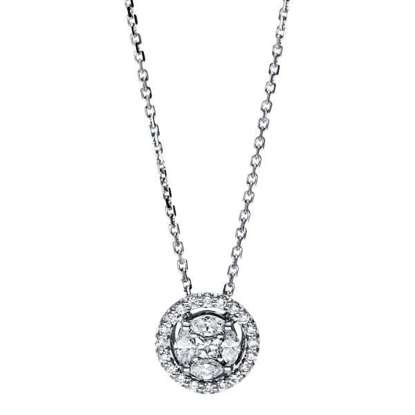18 kt fehérarany nyaklánc 25 gyémánttal 4F585W8-1
