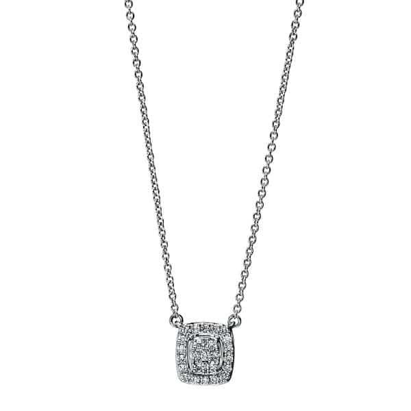 18 kt fehérarany nyaklánc 25 gyémánttal 4F792W8-1