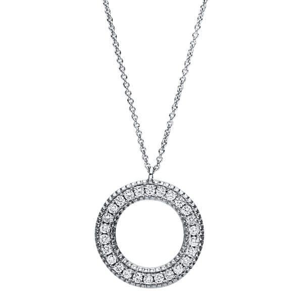 18 kt fehérarany nyaklánc 26 gyémánttal 4F414W8-1