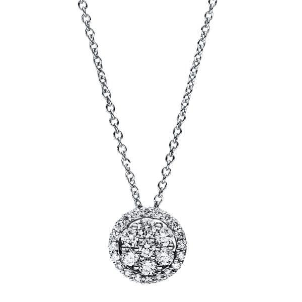 18 kt fehérarany nyaklánc 27 gyémánttal 4F354W8-1