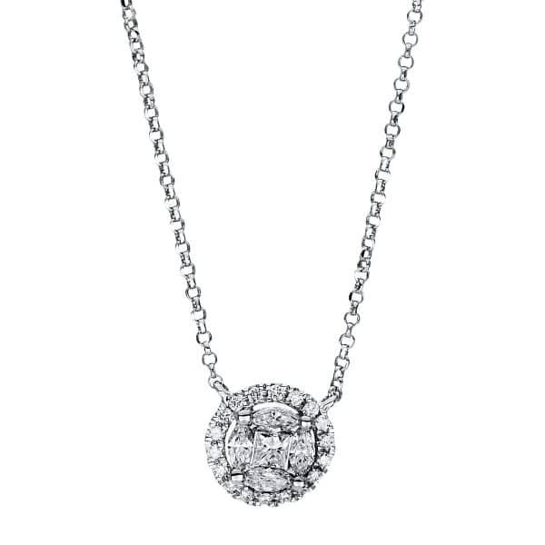 18 kt fehérarany nyaklánc 27 gyémánttal 4F452W8-1