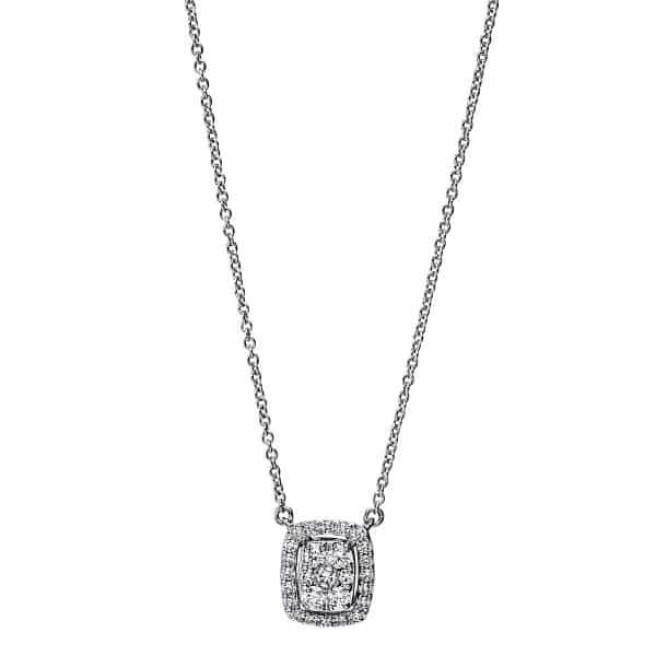 18 kt fehérarany nyaklánc 27 gyémánttal 4F793W8-1