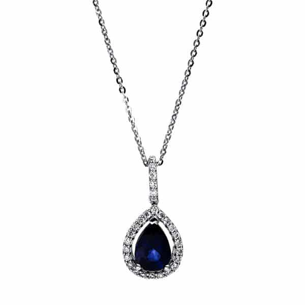 18 kt fehérarany nyaklánc 28 gyémánttal